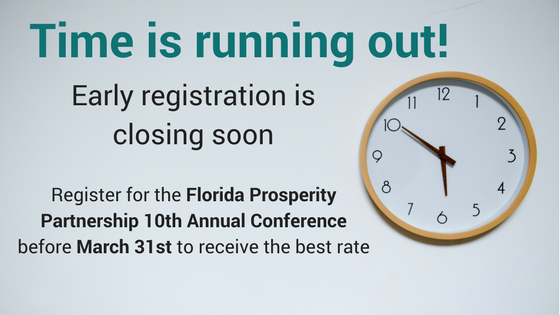 Early Registration for the 10th Annual Florida Prosperity Partnership Conference is Closing Soon!